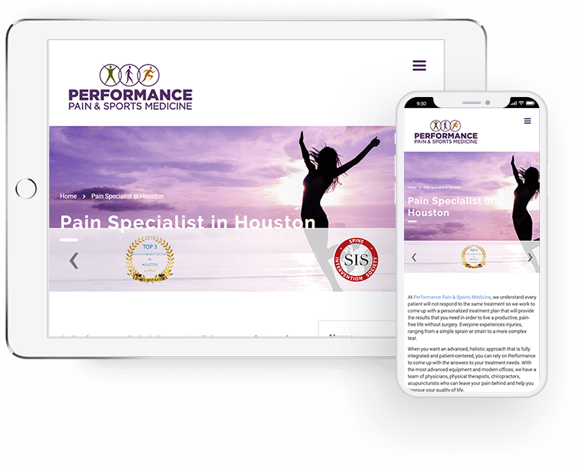 performance-pain-sports-medicine-mobile-first-design
