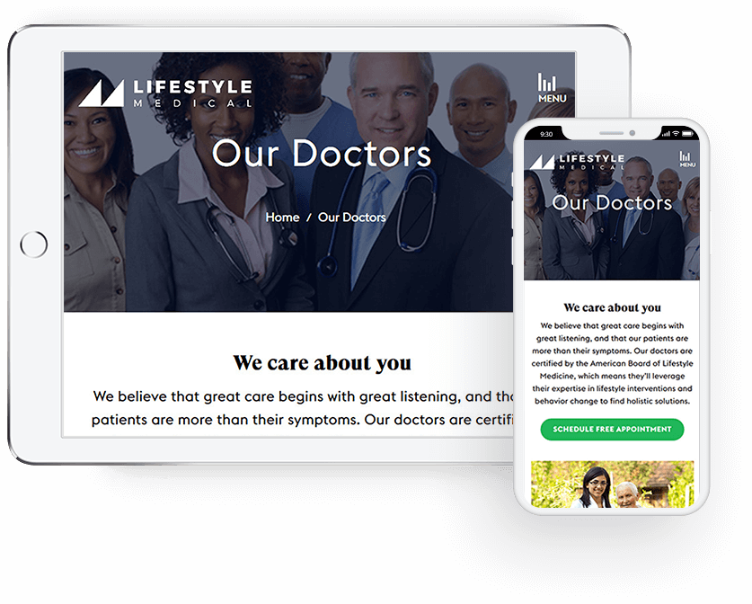 lifestyle-medical-mobile-first-design